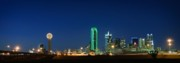 Dallas Skyline Metal Prints - Dallas Skyline Metal Print by Charles Dobbs