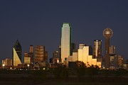 Dallas Skyline Framed Prints - Dallas Skyline Framed Print by Christian Heeb