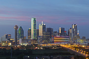 Dallas Skyline Framed Prints - Dallas Skyline Images 612-1 Framed Print by Rob Greebon