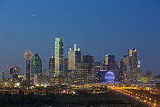 Dallas Skyline Framed Prints - Dallas Skyline Images 612-2 Framed Print by Rob Greebon