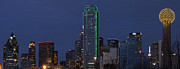 Dallas Digital Art Framed Prints - Dallas Skyline Framed Print by Jonathan Davison