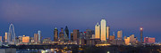 Dallas Skyline Metal Prints - Dallas Skyline Panorama from East of Downtown Metal Print by Rob Greebon
