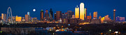 Dallas Skyline Panorama Print by Inge Johnsson