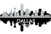 Dallas Mixed Media Prints - Dallas TX 4 Print by Angelina Vick