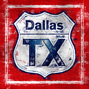 Dallas Digital Art Metal Prints - Dallas TX Metal Print by Anthony Ross