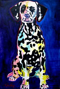 Dawgart Painting Originals - Dalmatian - Polka Dots by Alicia VanNoy Call