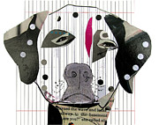 Mixed Media Of Dogs Posters - Dalmation Poster by Brian Buckley