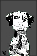 Dalmation Digital Art Posters - Dalmation Pop Art Poster by Brian Buckley