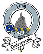Genealogy Prints - Dalrymple Clan Badge Print by Heraldry