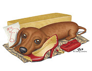 Funny Dog Drawings - Dalton by Danny Gordon