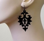 Laser Cut Jewelry - Damask Earrings by Rony Bank