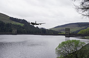 Bouncing Prints - Dambusters Lancaster at the Derwent Dam Print by Gary Eason