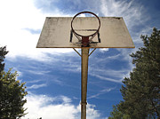 Hoop Photos - Damged basketball hoop by Bernard Jaubert