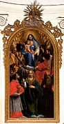 Christ Child Photo Prints - Damini Pietro, Madonna And Child Print by Everett
