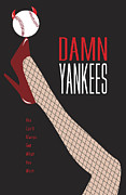 Baseball Digital Art Posters - Damn Yankees 3 Poster by Ron Regalado