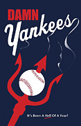 Mlb Metal Prints - Damn Yankees 4 Metal Print by Ron Regalado