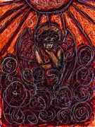Religious Drawings Metal Prints - Damnation Metal Print by Rachel Scott