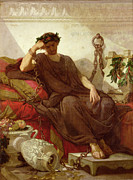 Ancient Greece Framed Prints - Damocles Framed Print by Thomas Couture
