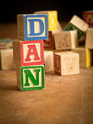Names Posters - DAN - Alphabet Blocks Poster by Edward Fielding