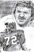 Pro Football Drawings Posters - Dan Dierdorf Poster by Jonathan Tooley