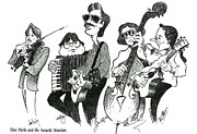 60s Drawings - Dan Hicks and the Acoustic Warriors by Karen Fulk