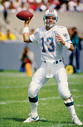 Marino Prints - Dan Marino passing Print by Sanely Great
