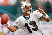 National League Prints - Dan Marino Poster Print by Sanely Great