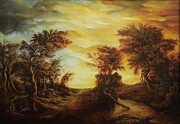 Tablou Art - Dan Scurtu - Forest at Sunset by Dan Scurtu