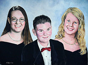 Family Paintings - Dana Curtis and Viktoria by Andrew Read