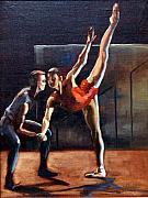 Ballet Dancers Painting Prints - Dance Bites Print by Podi Lawrence