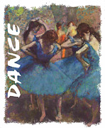 Ballet Dancers Painting Framed Prints - Dance by Degas Framed Print by Philip Ralley