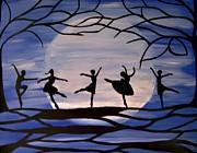 Dance By The Light Of The Moon Print by Rachel  Olynuk