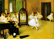 Dance Recital Posters - Dance Class 2 Poster by Edgar Degas
