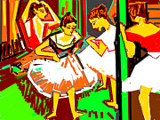 Various Digital Art Posters - Dance Class-3 Poster by Anand Swaroop Manchiraju
