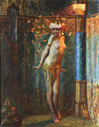 Farries Framed Prints - Dance de Salome Framed Print by Gaston Bussiere