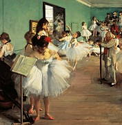 Dresses Framed Prints - Dance Examination Framed Print by Edgar Degas