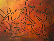 Abstract Music Drawings - Dance Fever by Pamela Allegretto
