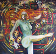 Goddess Mythology Paintings - Dance for Kali by Roger Williamson