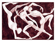 Anatomical Mixed Media Prints - Dance Illustration Print by Christos Georghiou