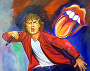 Rock And Roll Painting Originals - Dance Like Mick by To-Tam Gerwe