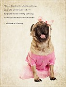 Pug Photos - Dance like theres nobody watching by Edward Fielding