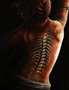 Human Skeleton Paintings - Dance of Death by Danielle Trudeau
