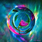 Abstract Art Digital Art - Dance of the Dalia by Robin Moline