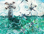 Drifting Paintings - Dance of the Dragonflies by Shana Rowe