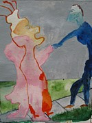 Blue And Pink Dance Paintings - Dance of the Marionette by Lawrence  Dugan