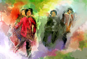 Korea Digital Art Prints - Dance of the Orphans Print by Dale Stillman
