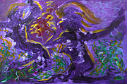 Abstract Dance Painting Originals - Dance Of The Sugar Plum Fairies by Donna Blackhall