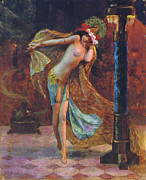 Gaston Bussiere Posters - Dance of the Veils Poster by Gaston Bussiere