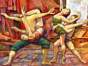 Athletic Painting Originals - Dance Painting Caravaggio by Alfons Niex