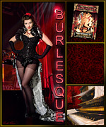 Burlesque Digital Art Metal Prints - Dance series - Burlesque Metal Print by Linda Lees